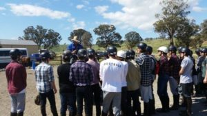 Demonstration of Horse Riding to Students